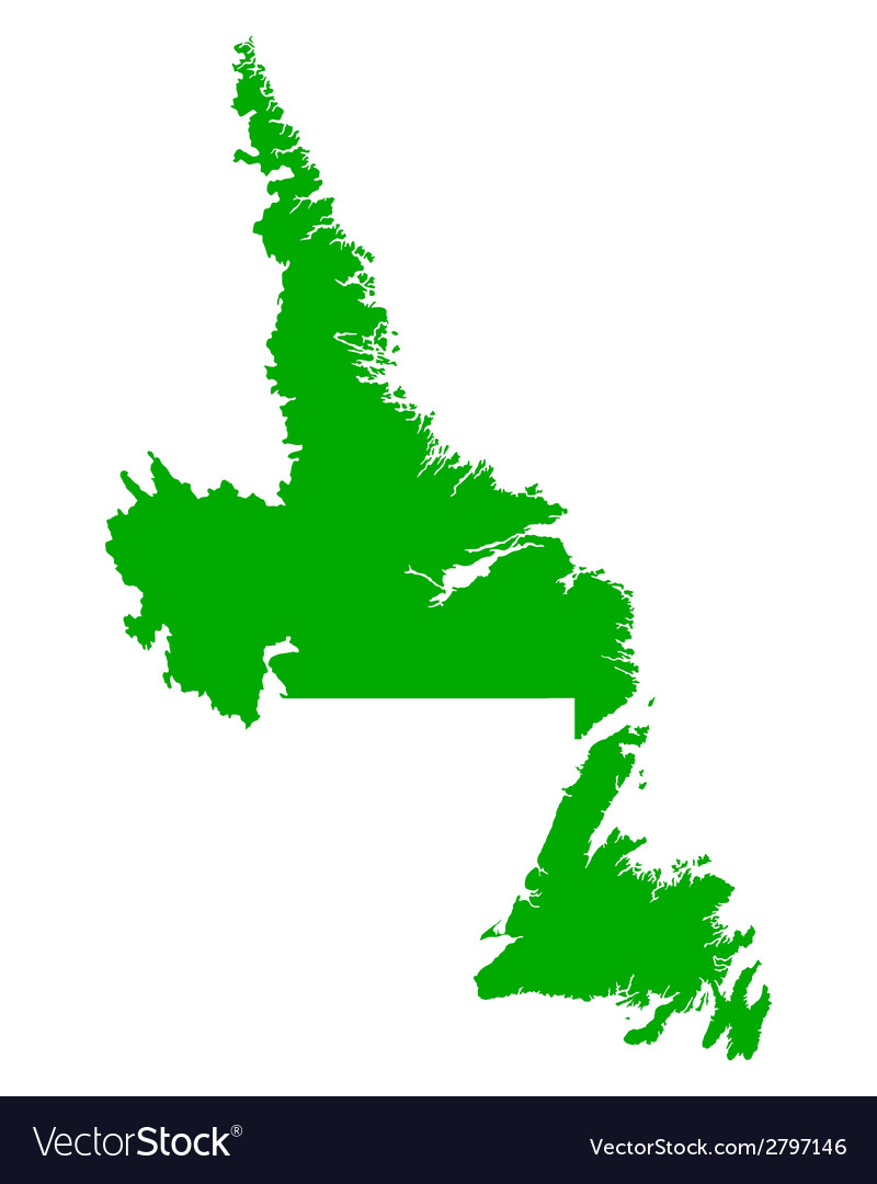 Map of newfoundland and labrador vector   Price: 1 Credit (USD $1)