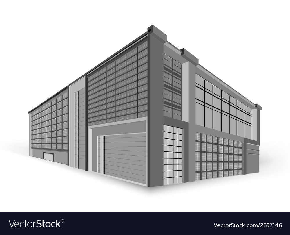 Modern building style vector | Price: 1 Credit (USD $1)