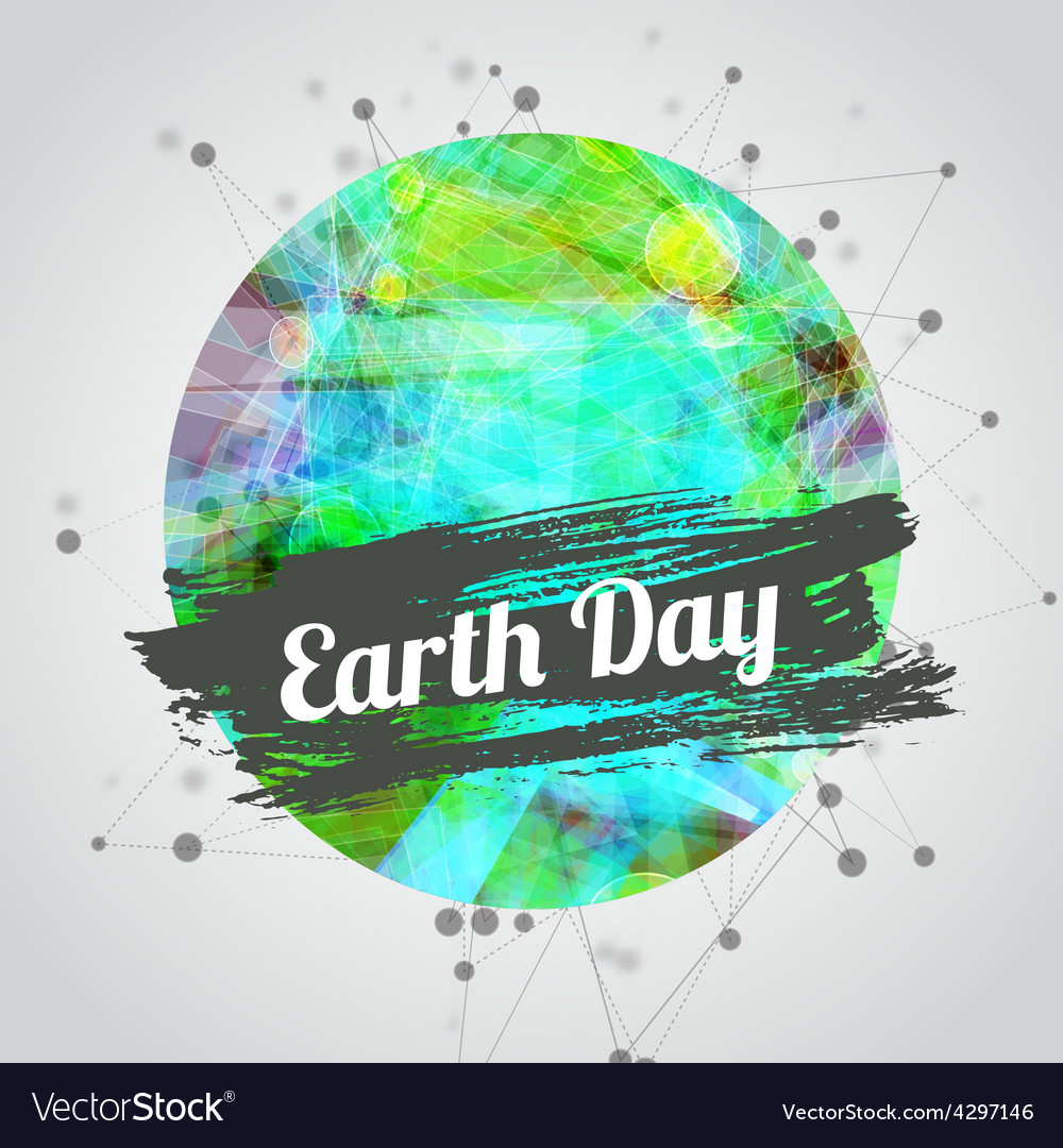 Modern for earth day with vector | Price: 1 Credit (USD $1)