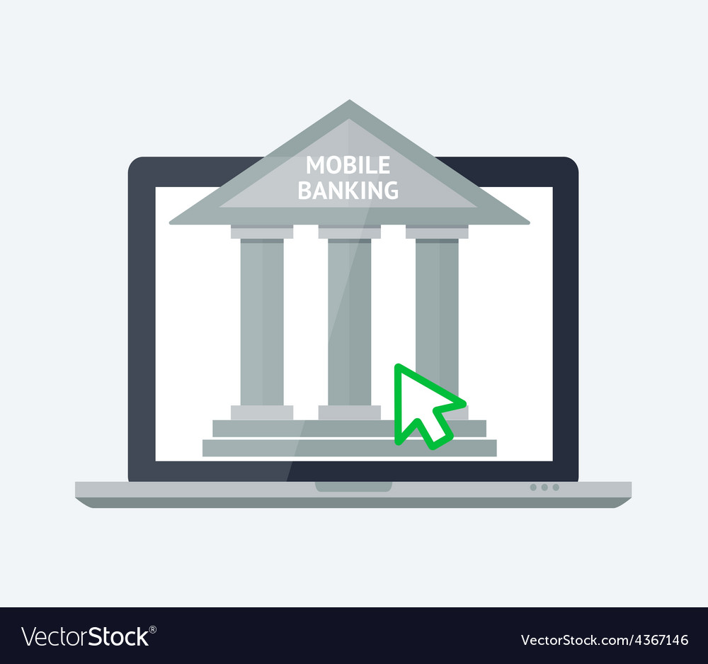 Online banking concept vector | Price: 1 Credit (USD $1)