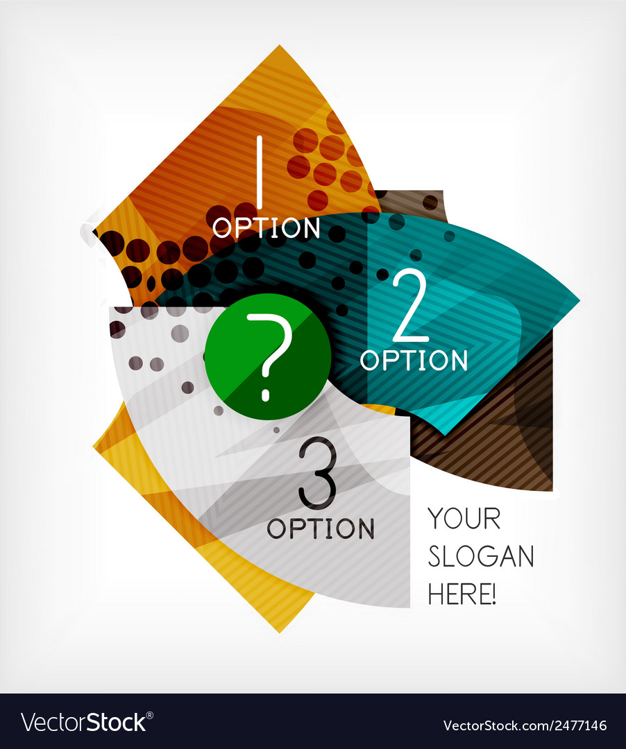 Option infographic presentation layout vector | Price: 1 Credit (USD $1)