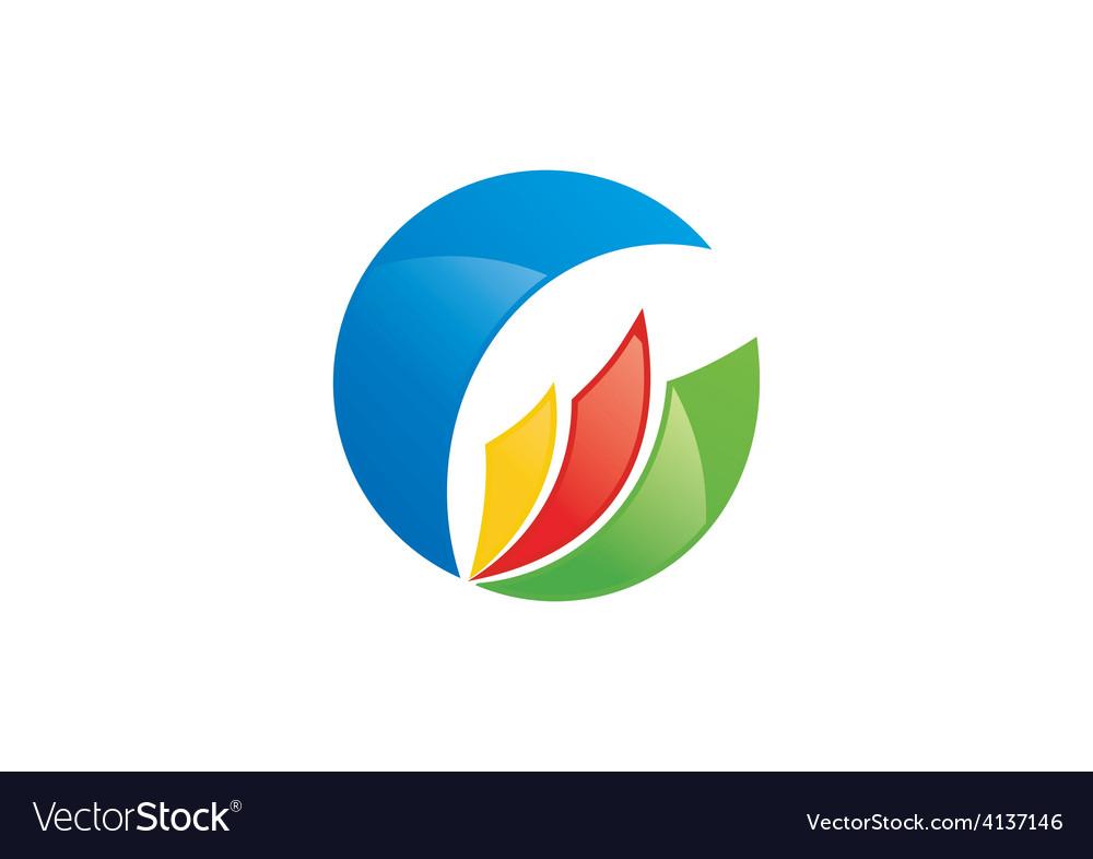 Round business loop color logo vector   Price: 1 Credit (USD $1)