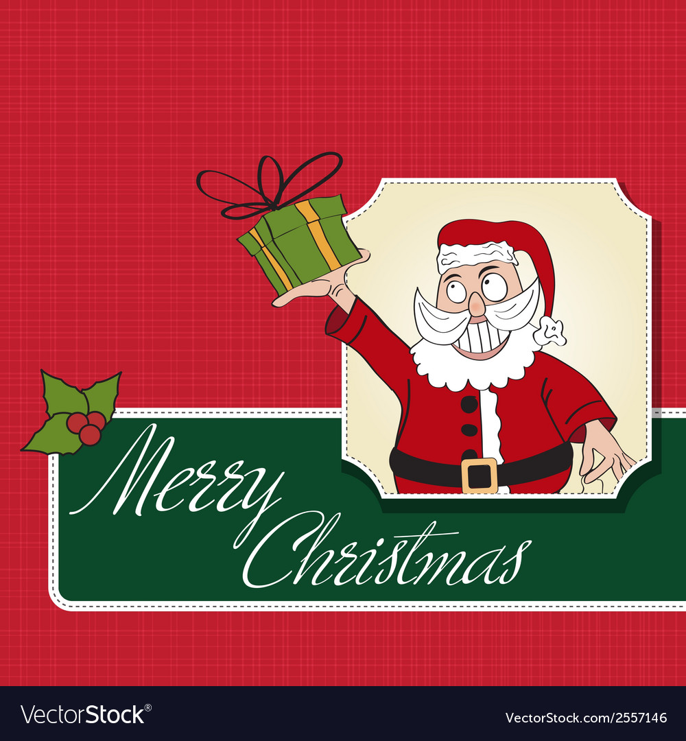 Santa claus with gift vector | Price: 1 Credit (USD $1)