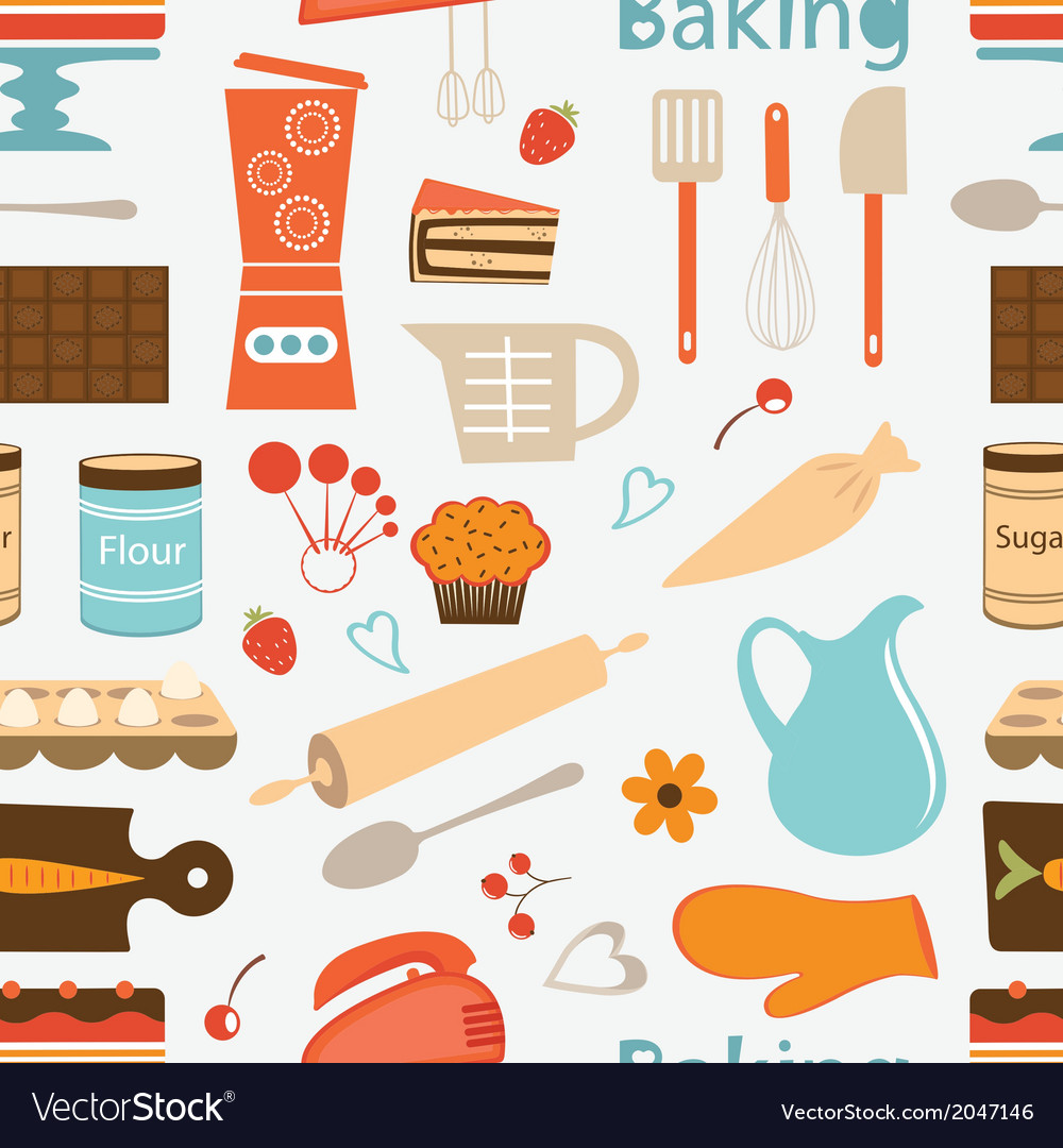 Seamless bakery pattern vector | Price: 1 Credit (USD $1)