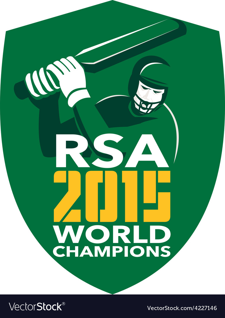 South africa cricket 2015 world champions shield vector | Price: 1 Credit (USD $1)