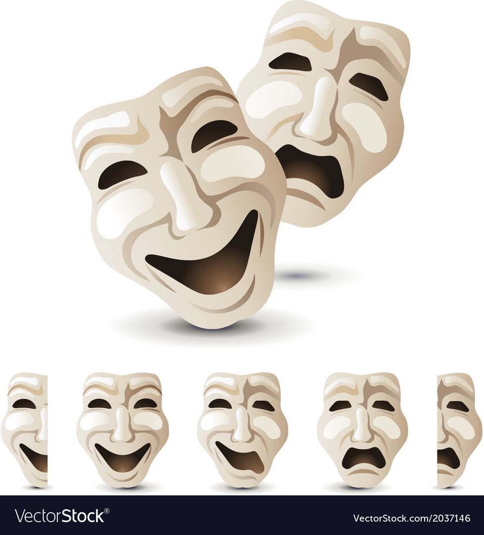 Theater mask vector | Price: 1 Credit (USD $1)