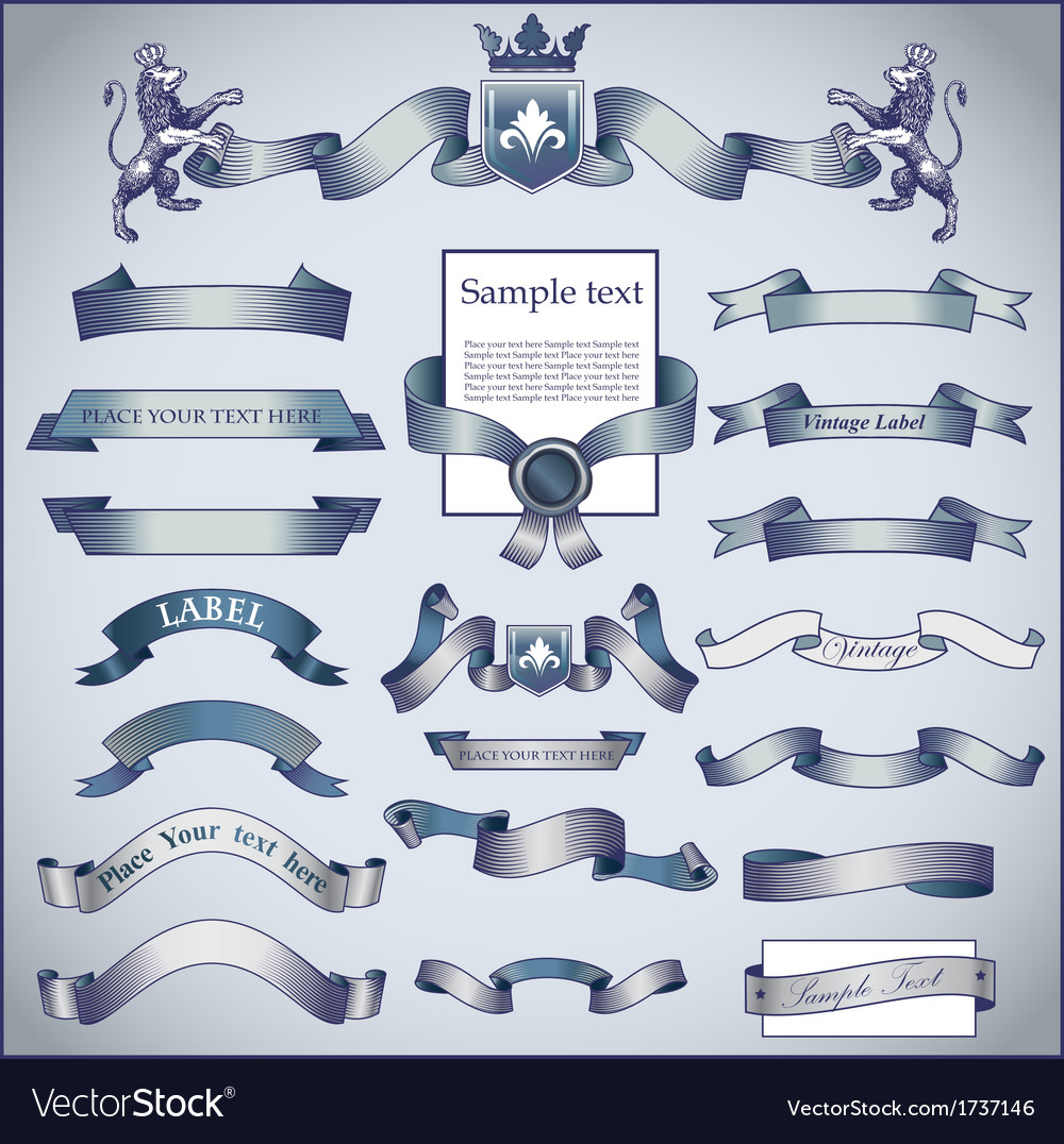 Vintage ribbons vector   Price: 1 Credit (USD $1)