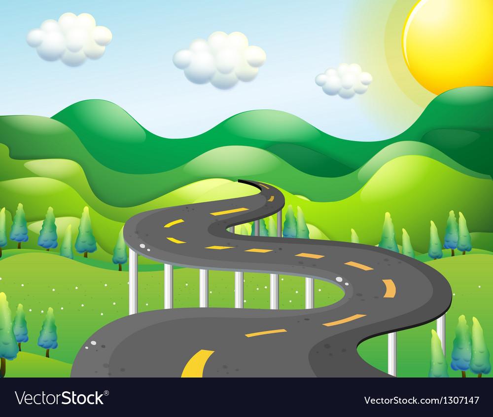 A very narrow road vector | Price: 1 Credit (USD $1)