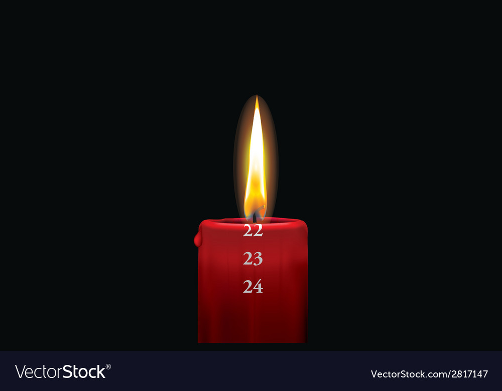 Advent candle red 22 vector | Price: 1 Credit (USD $1)