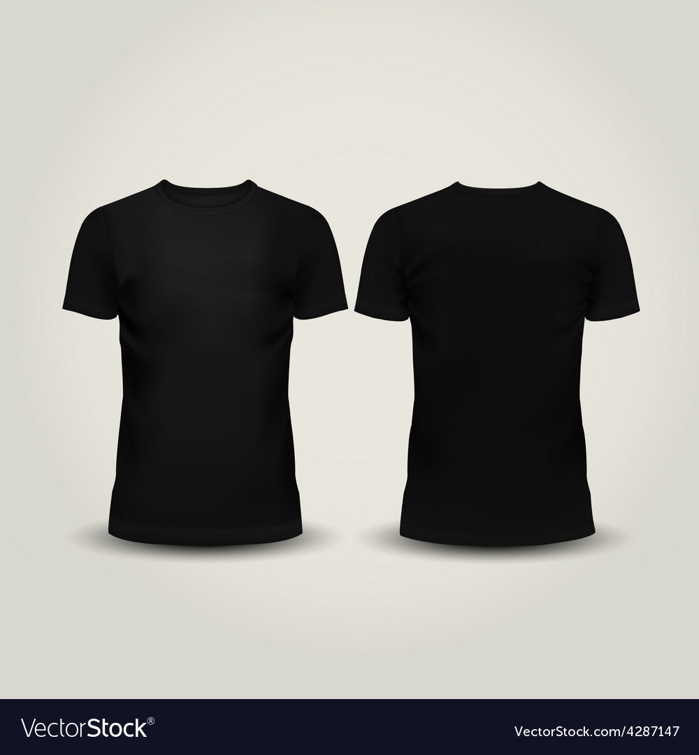 Black men t-shirt isolated vector | Price: 1 Credit (USD $1)