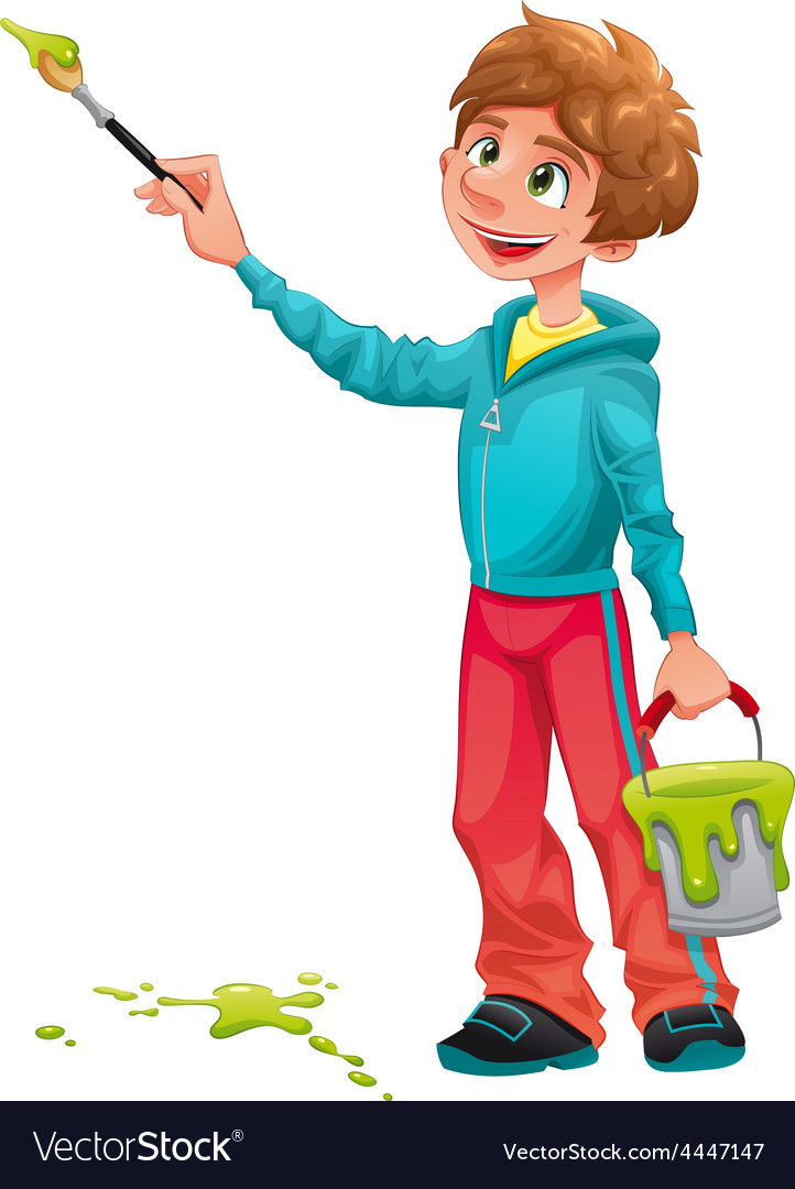 Boy painter vector | Price: 1 Credit (USD $1)