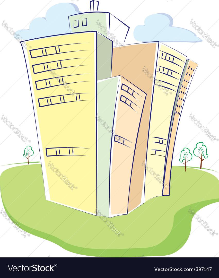 Cartoon building vector | Price: 1 Credit (USD $1)