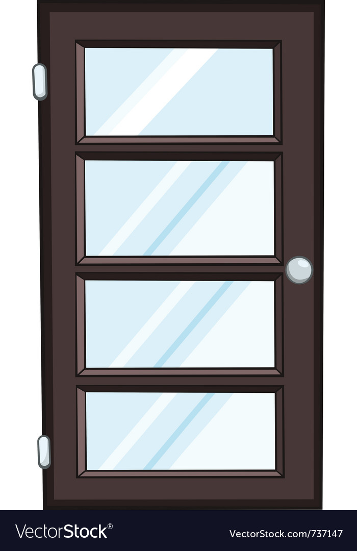 Cartoon home door vector | Price: 1 Credit (USD $1)