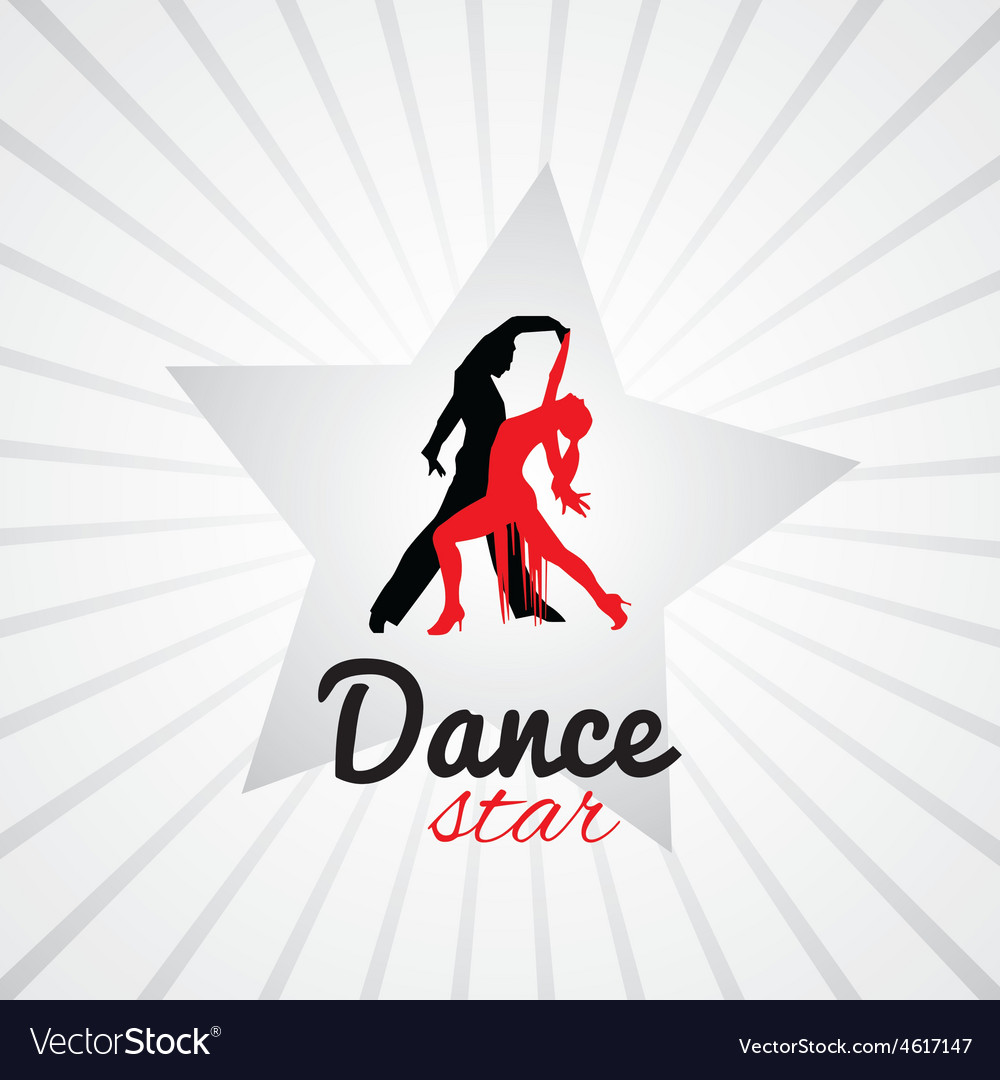 Dancing couple logo vector | Price: 1 Credit (USD $1)