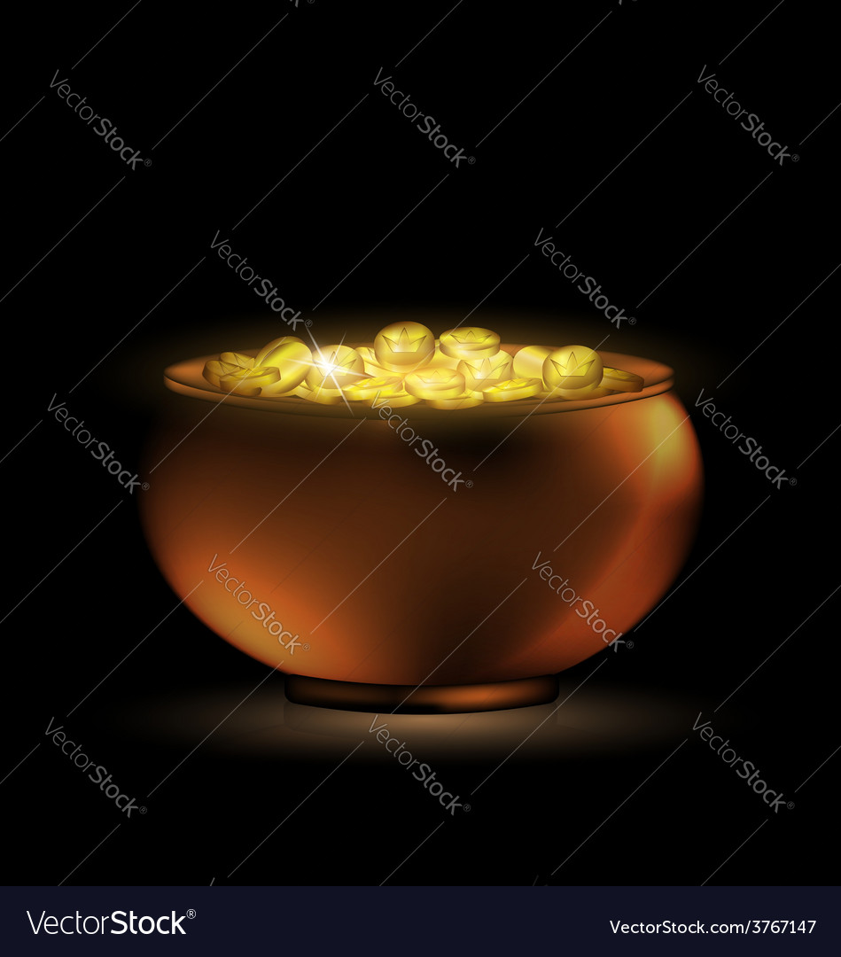 Dark pot of gold vector | Price: 1 Credit (USD $1)