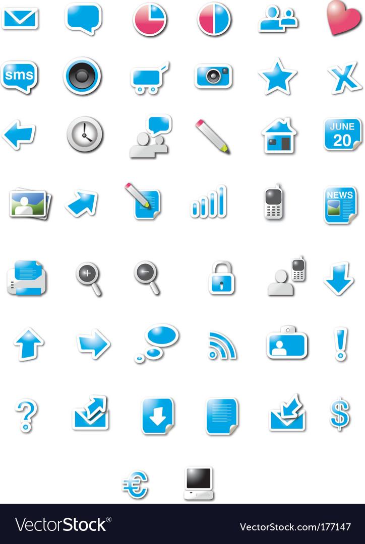 Digital media icons vector | Price: 1 Credit (USD $1)