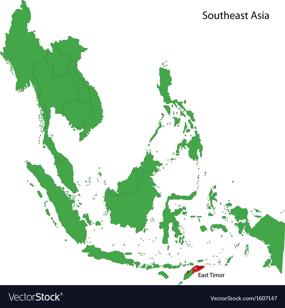 East timor map vector | Price: 1 Credit (USD $1)