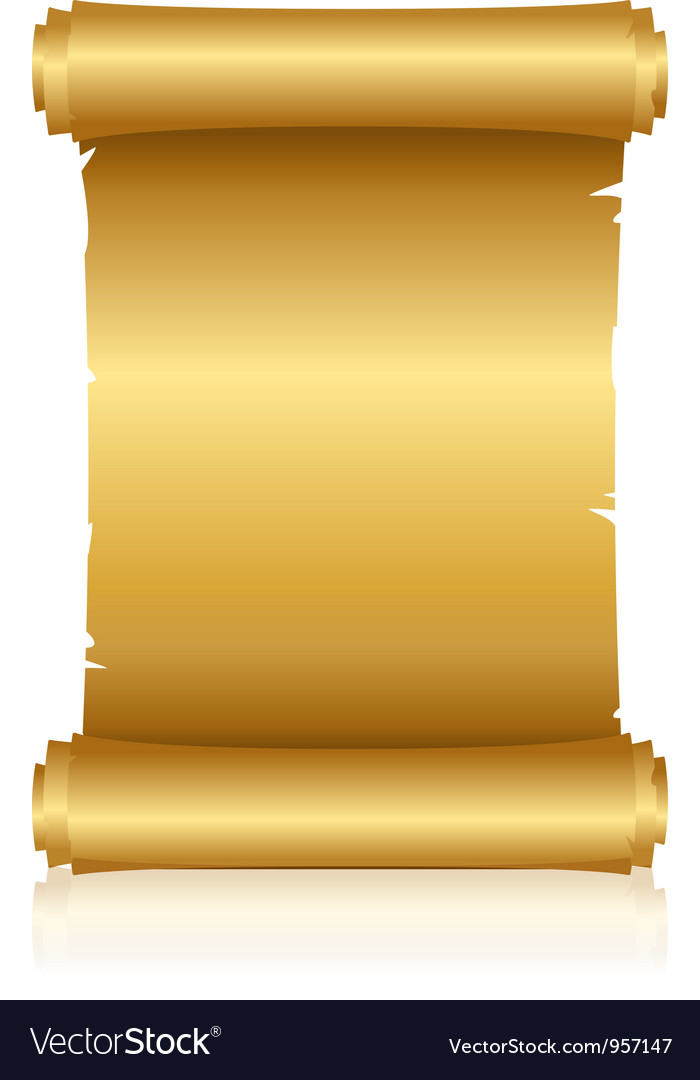 Gold shiny scroll vector | Price: 1 Credit (USD $1)