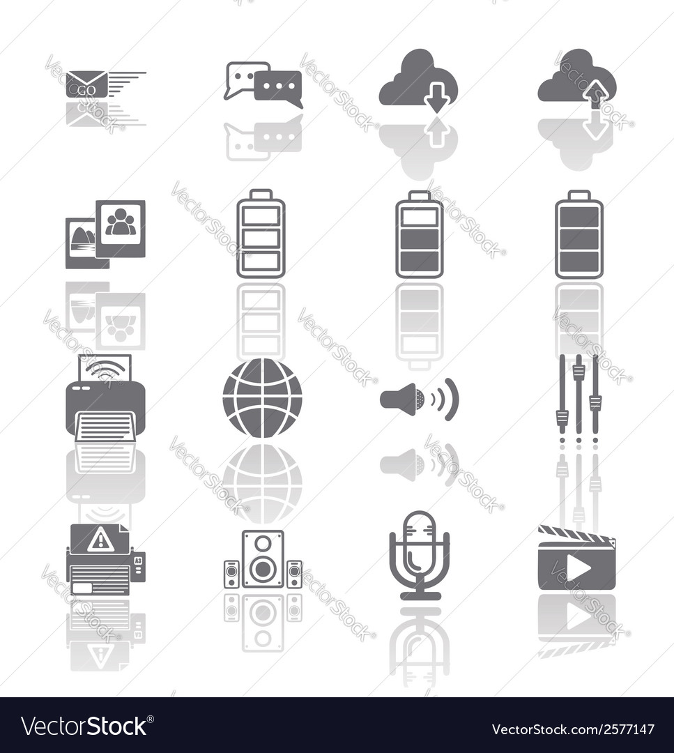 Pc mobile interface icon eps10 vector | Price: 1 Credit (USD $1)