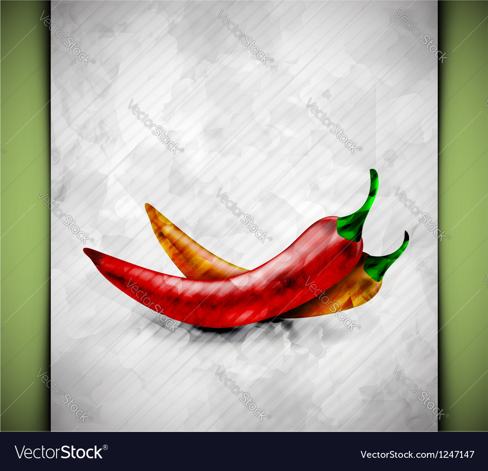 Pepper watercolor vector | Price: 1 Credit (USD $1)