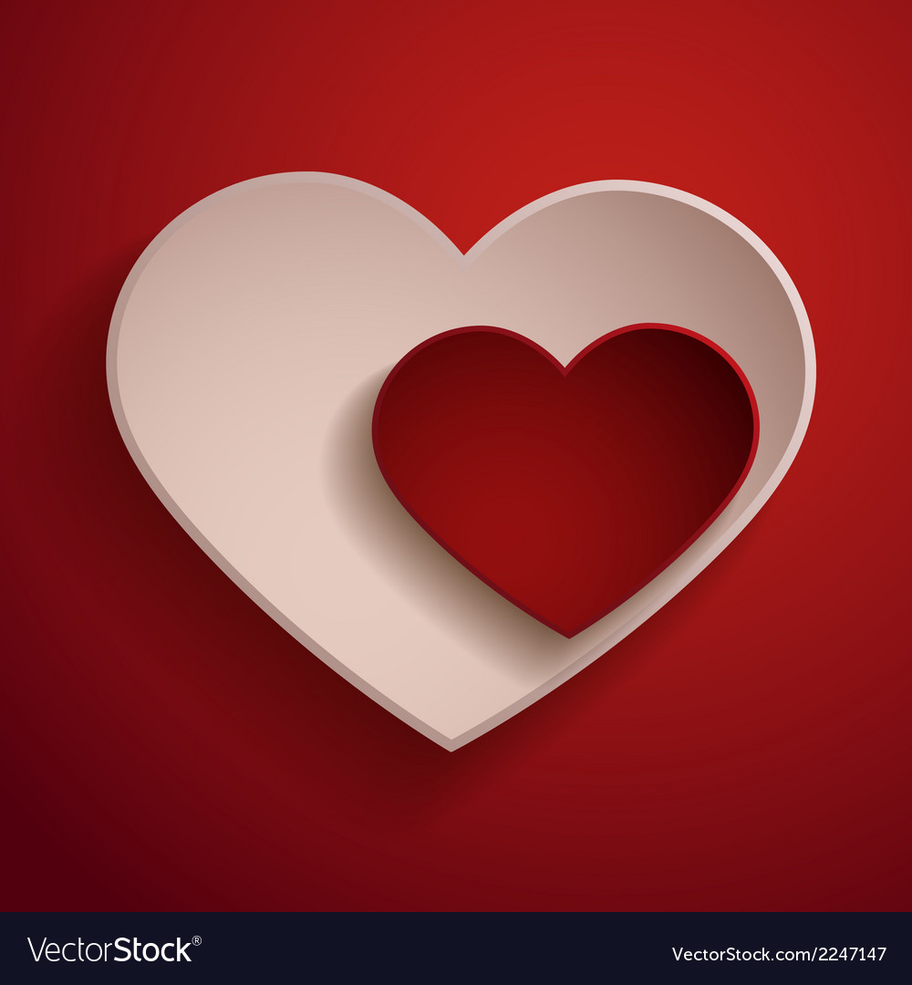 Red and white hearts vector | Price: 1 Credit (USD $1)
