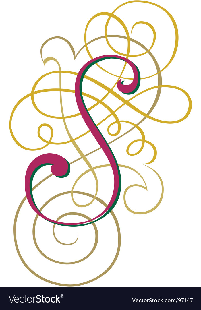 Script letter s vector | Price: 1 Credit (USD $1)