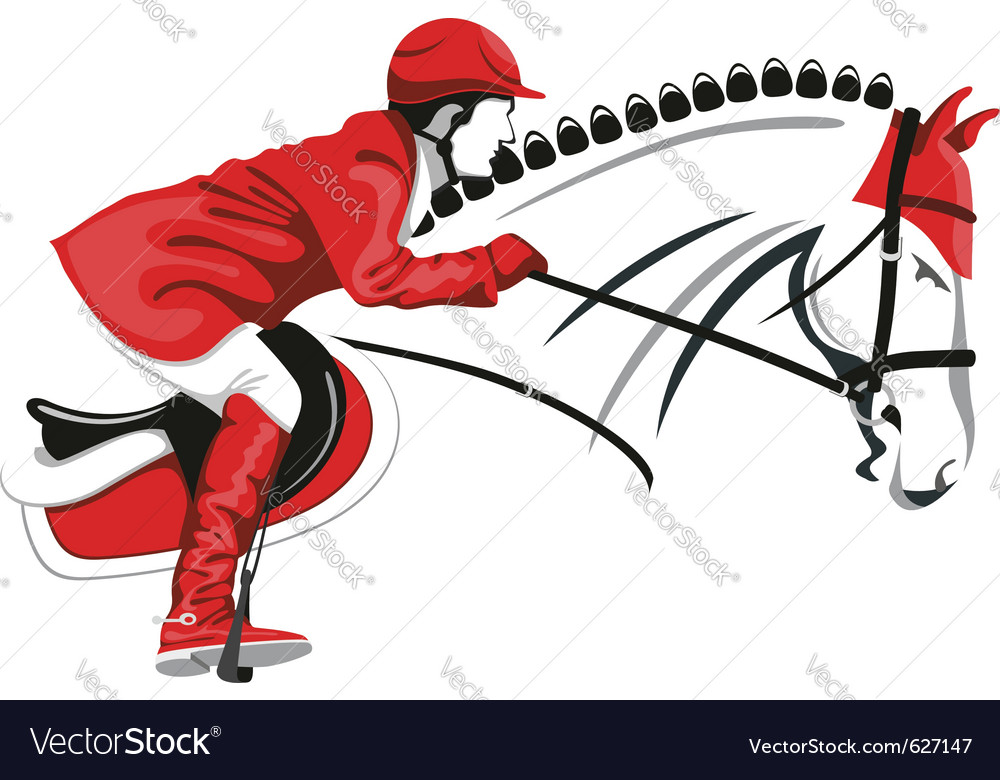 Show jumping vector | Price: 1 Credit (USD $1)