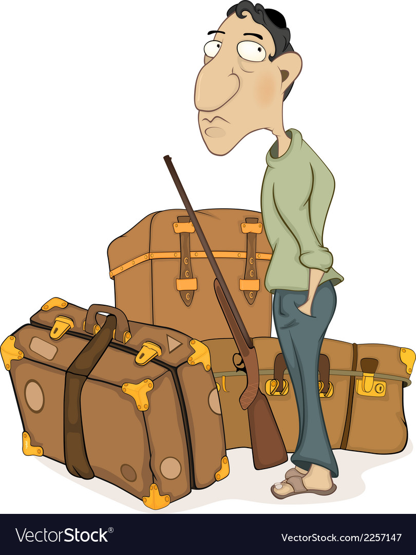 The traveler cartoon vector | Price: 1 Credit (USD $1)