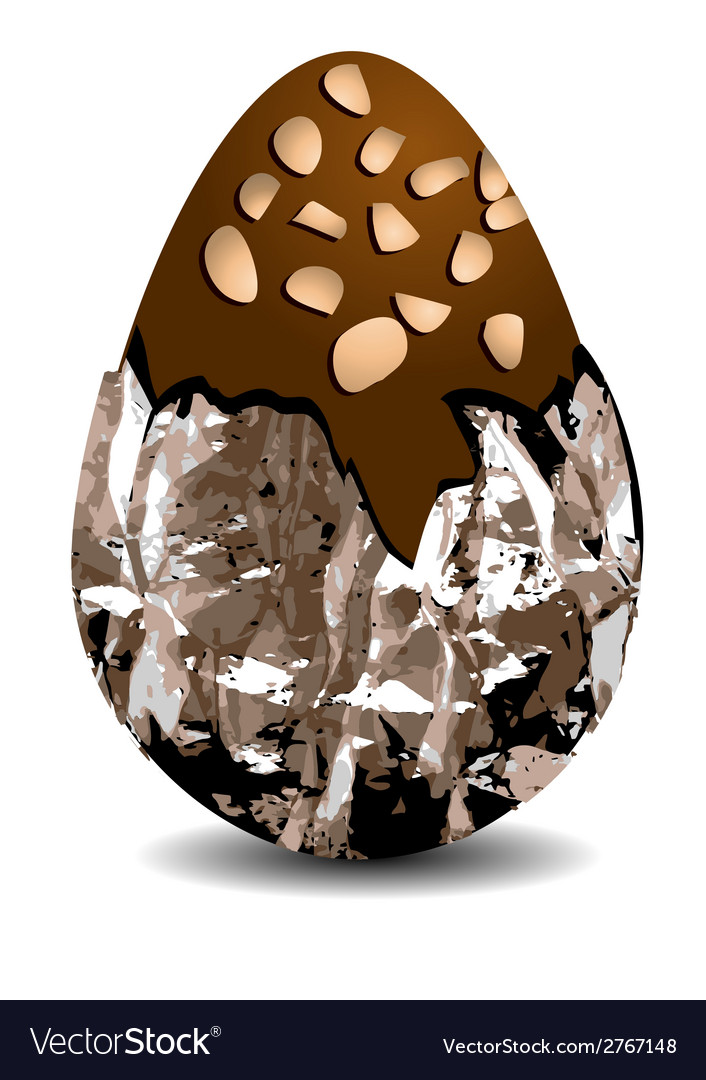 Chocolate egg with nuts vector | Price: 1 Credit (USD $1)