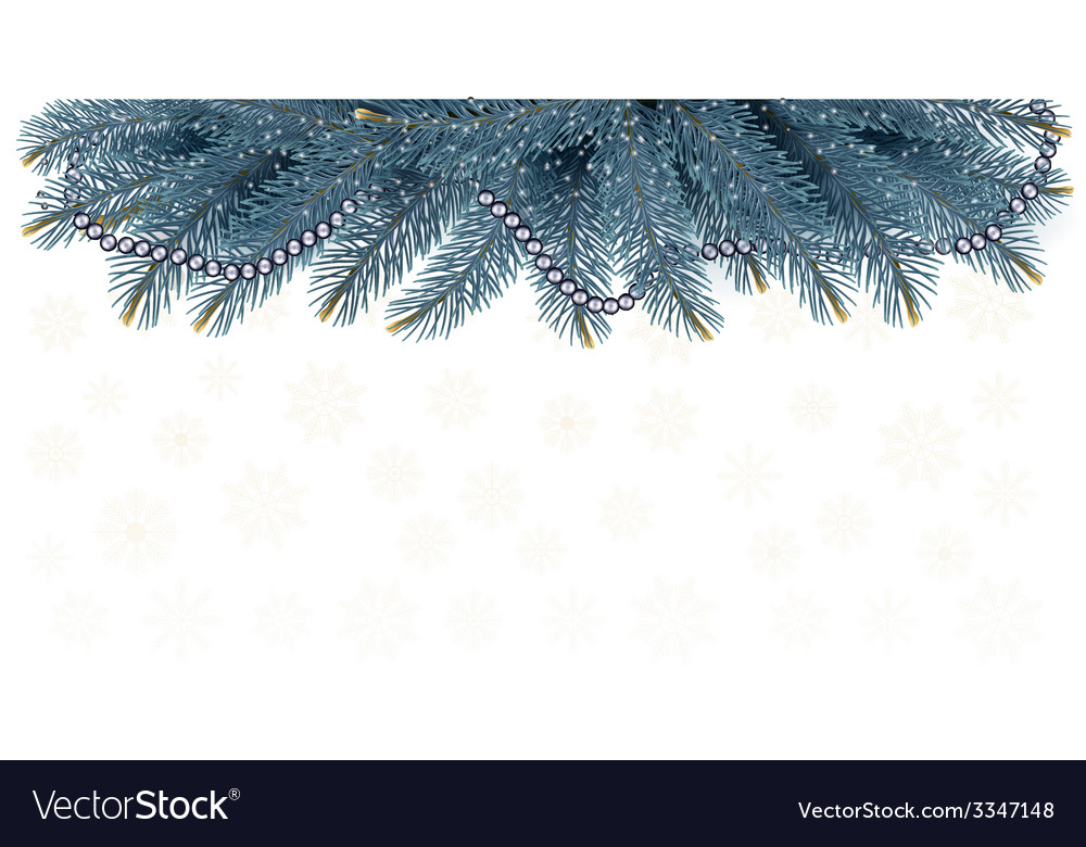 Christmas background with branches of tree vector | Price: 1 Credit (USD $1)
