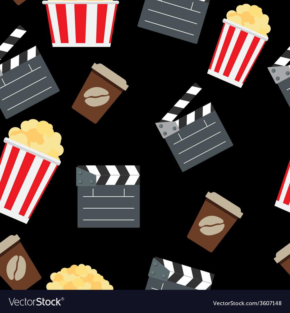 Cinema seamless pattern background vector | Price: 1 Credit (USD $1)