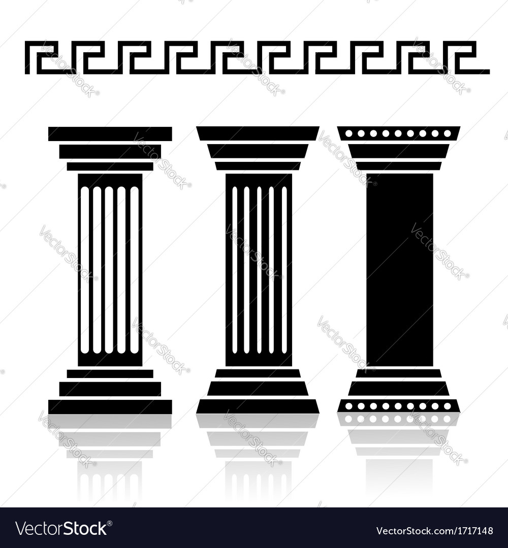 Columns vector | Price: 1 Credit (USD $1)