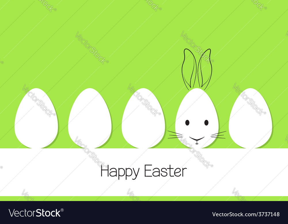 Easter eggs and bunny vector   Price: 1 Credit (USD $1)