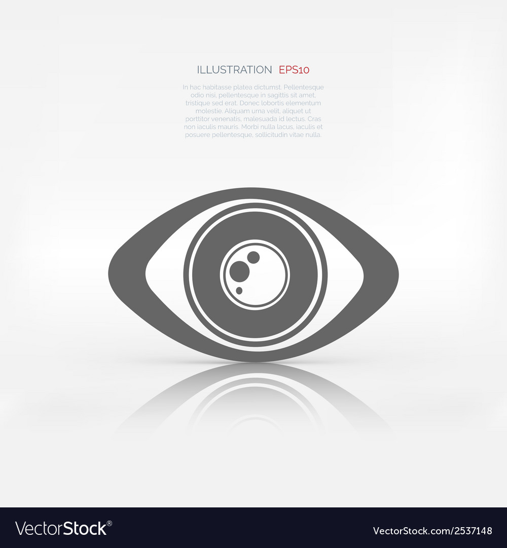 Eye icon human eye symbol vector | Price: 1 Credit (USD $1)