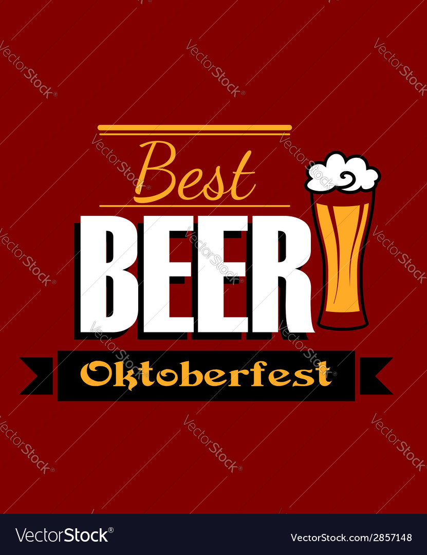 German best beer banner vector | Price: 1 Credit (USD $1)