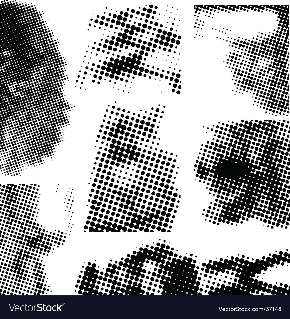 Halftone collection vector | Price: 1 Credit (USD $1)