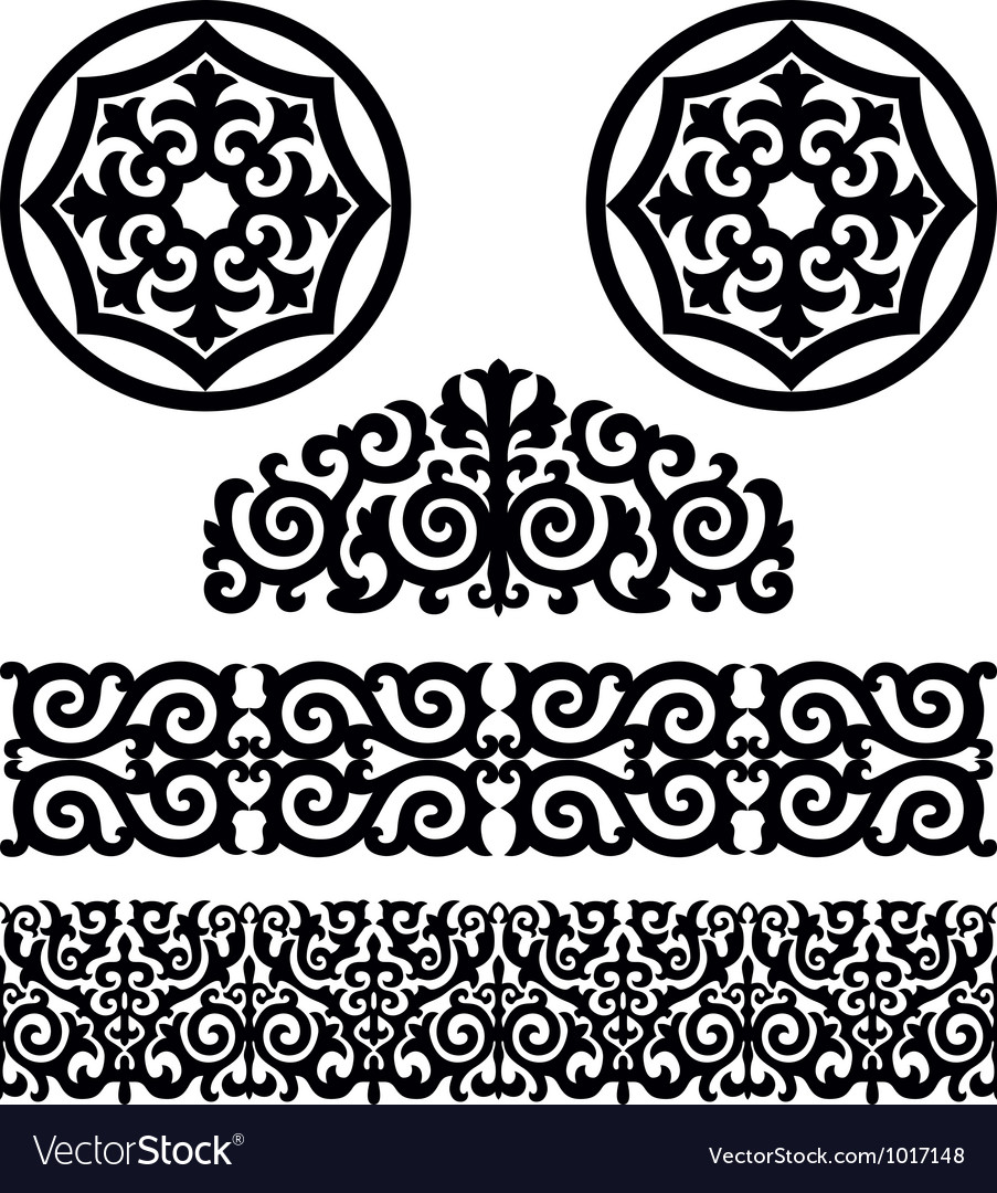 Kazakh pattern vector | Price: 1 Credit (USD $1)