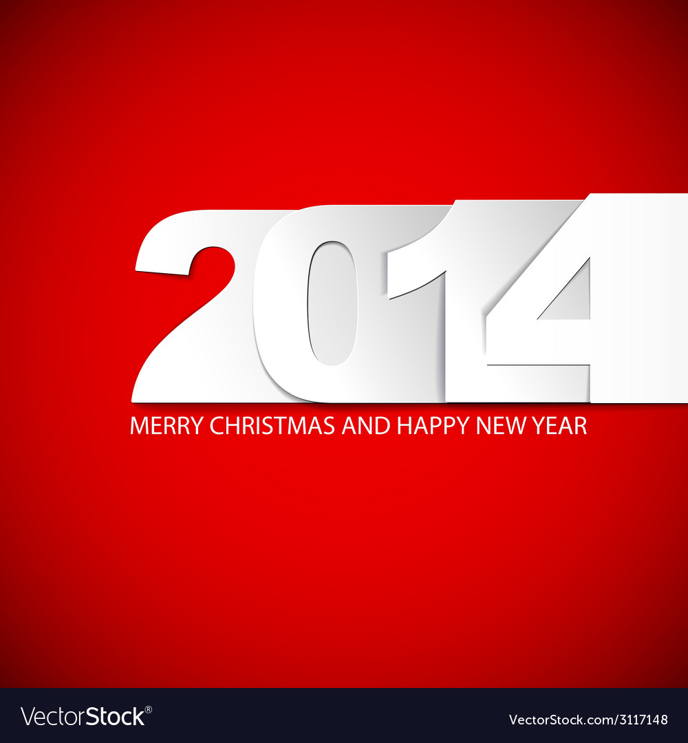 Original new year 2014 card vector | Price: 1 Credit (USD $1)