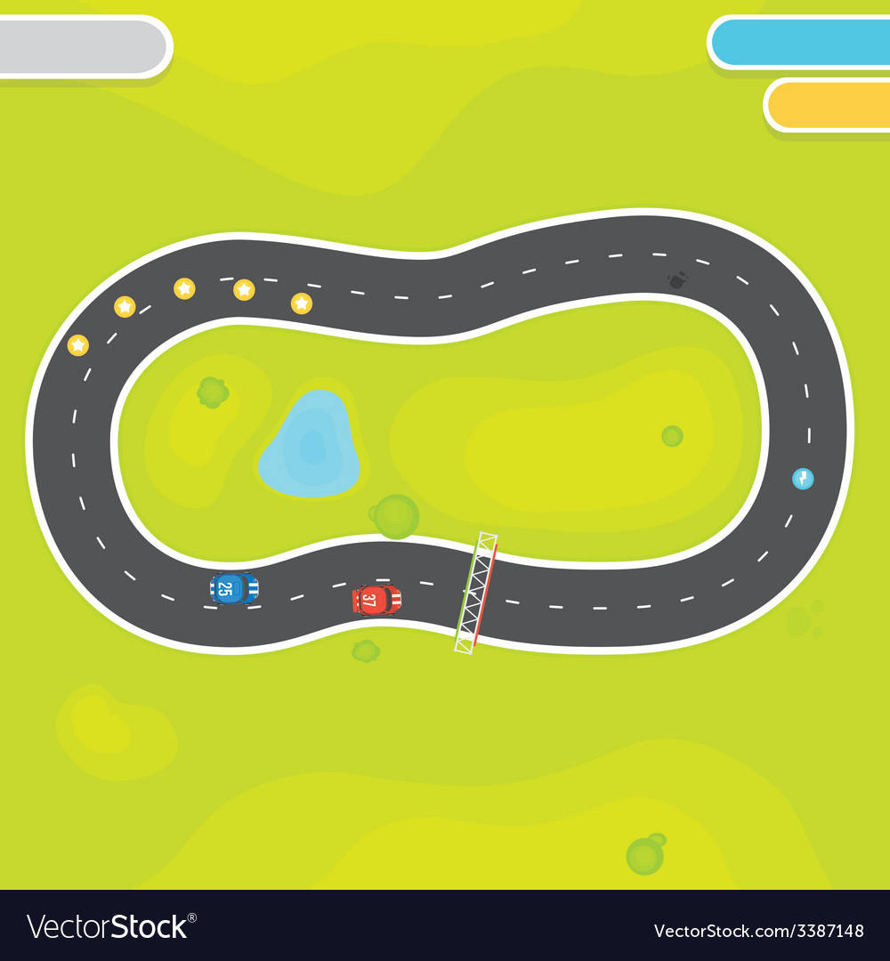 Racing game asset objects vector | Price: 1 Credit (USD $1)
