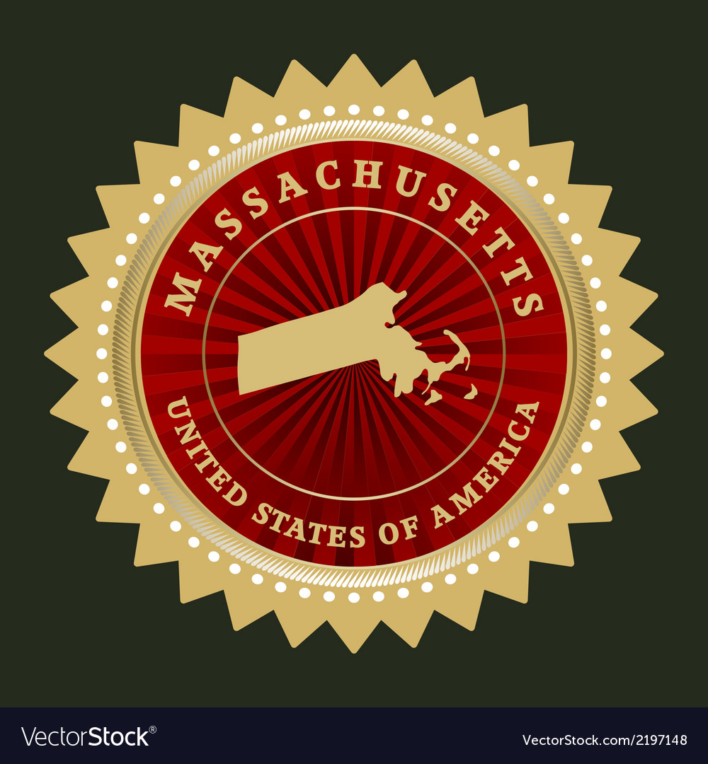 Star label massachusetts vector | Price: 1 Credit (USD $1)