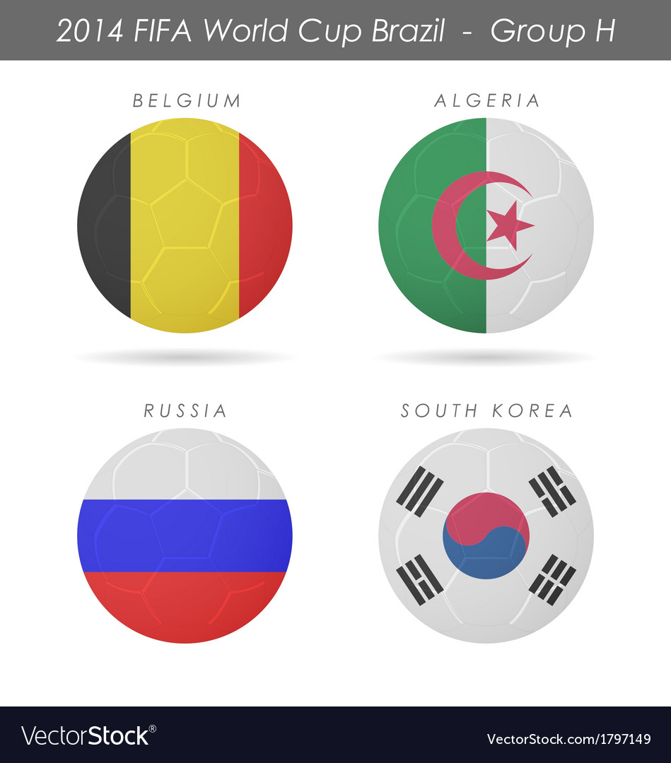 2014 fifa world cup group h countries vector | Price: 1 Credit (USD $1)