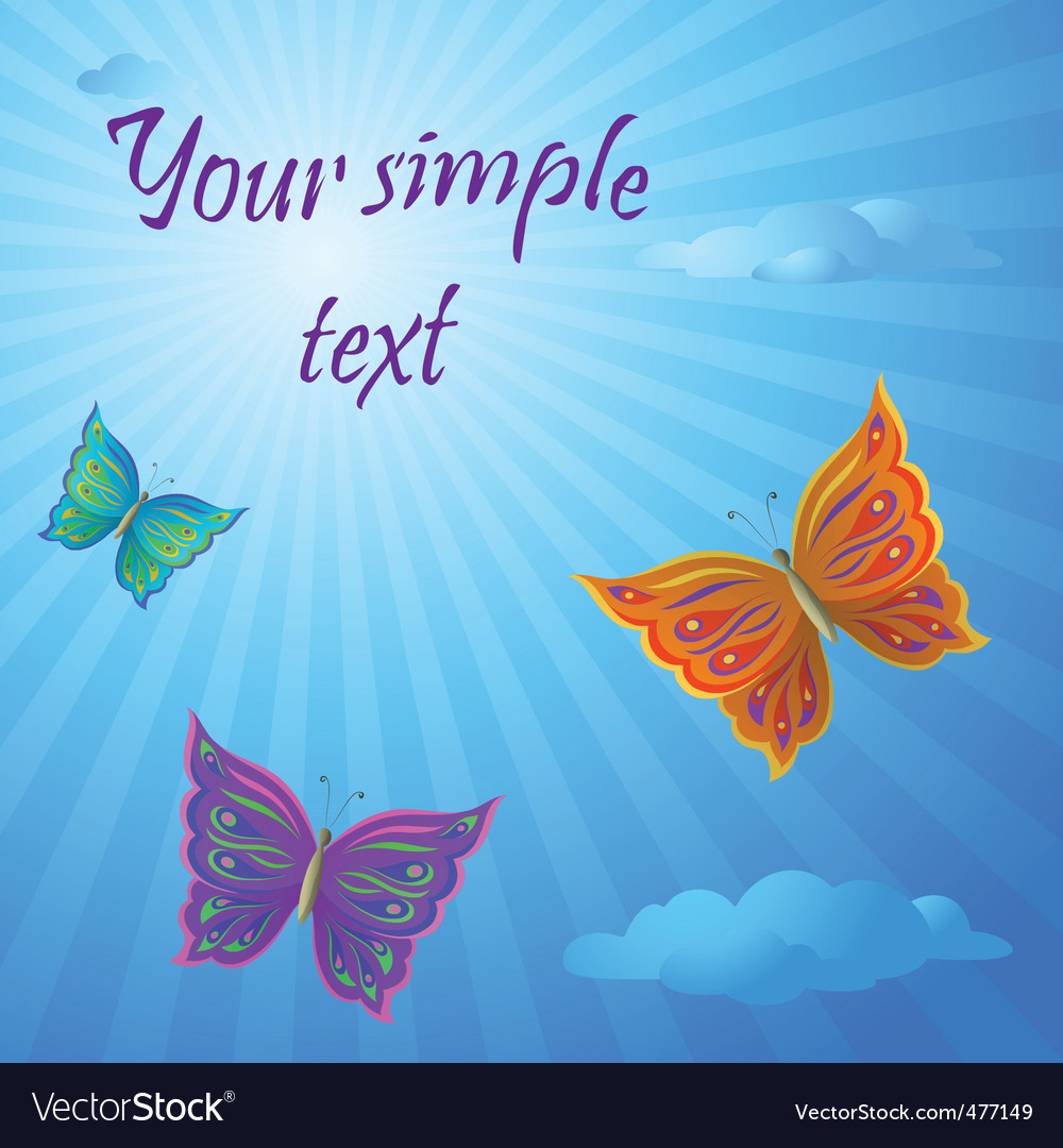 Butterflies vector | Price: 1 Credit (USD $1)