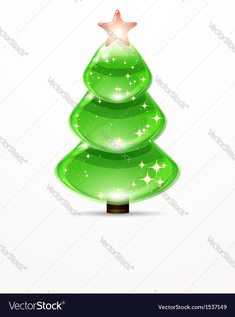Christmas tree from design elements background vector | Price: 1 Credit (USD $1)