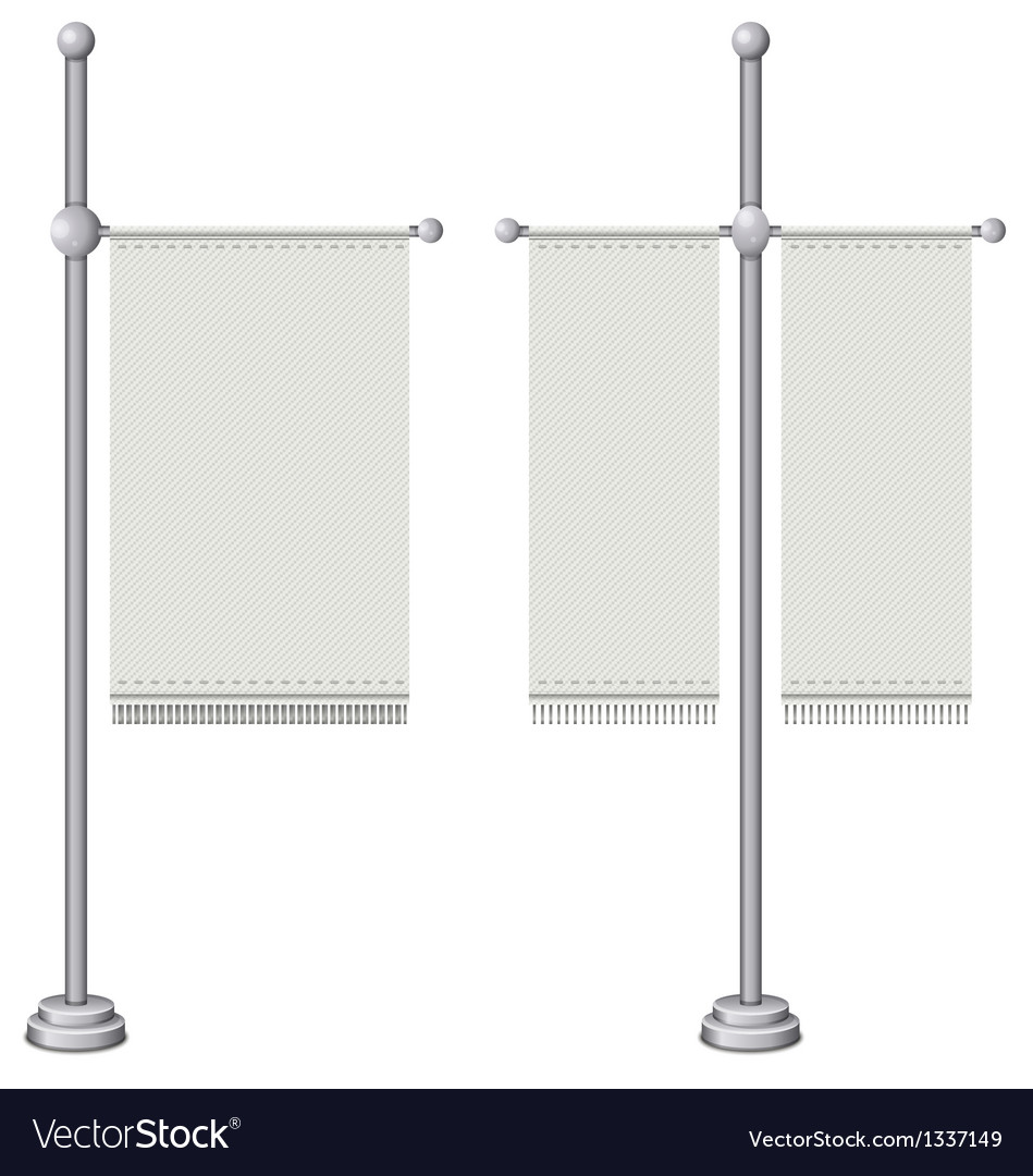 Flags on silver pole vector | Price: 1 Credit (USD $1)