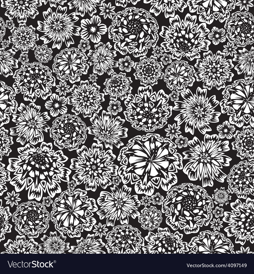 Flower seamless vector | Price: 1 Credit (USD $1)