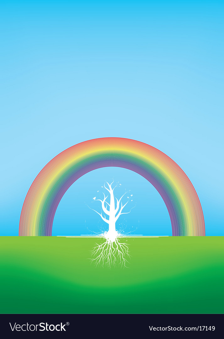 Gradient tree vector | Price: 1 Credit (USD $1)