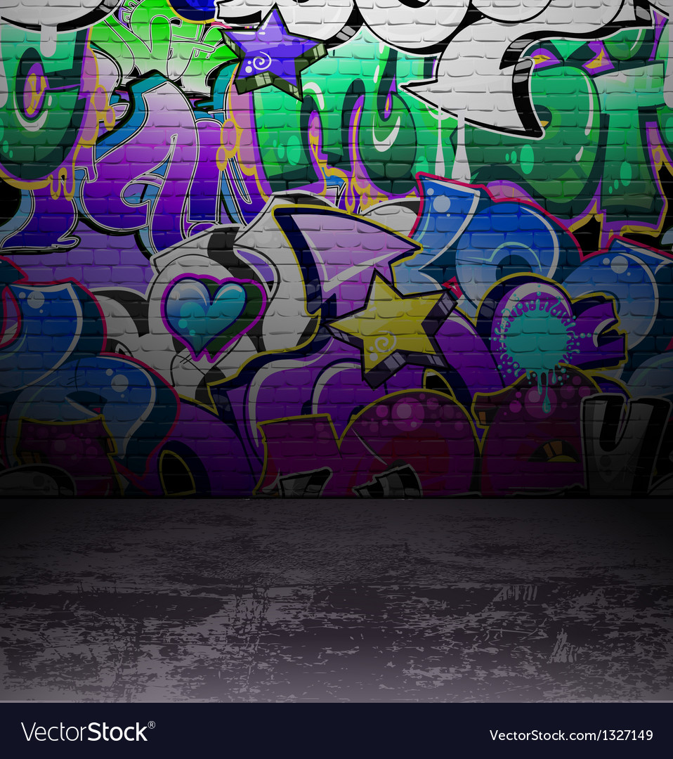 Graffiti wall urban street art painting vector | Price: 1 Credit (USD $1)