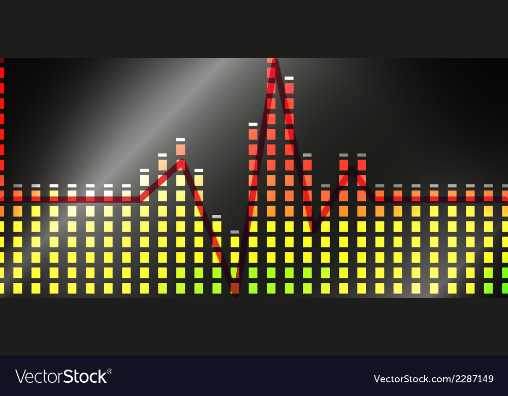 Heart beat line on equalizer vector | Price: 1 Credit (USD $1)