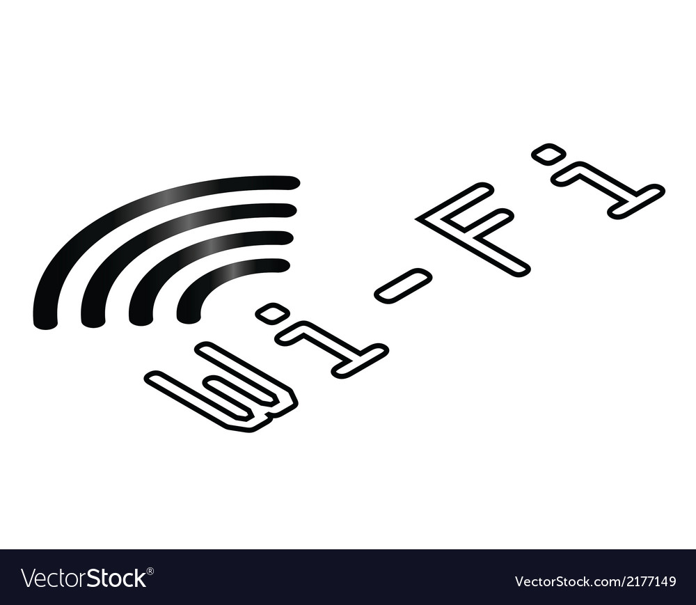 Isometric wifi symbol vector | Price: 1 Credit (USD $1)