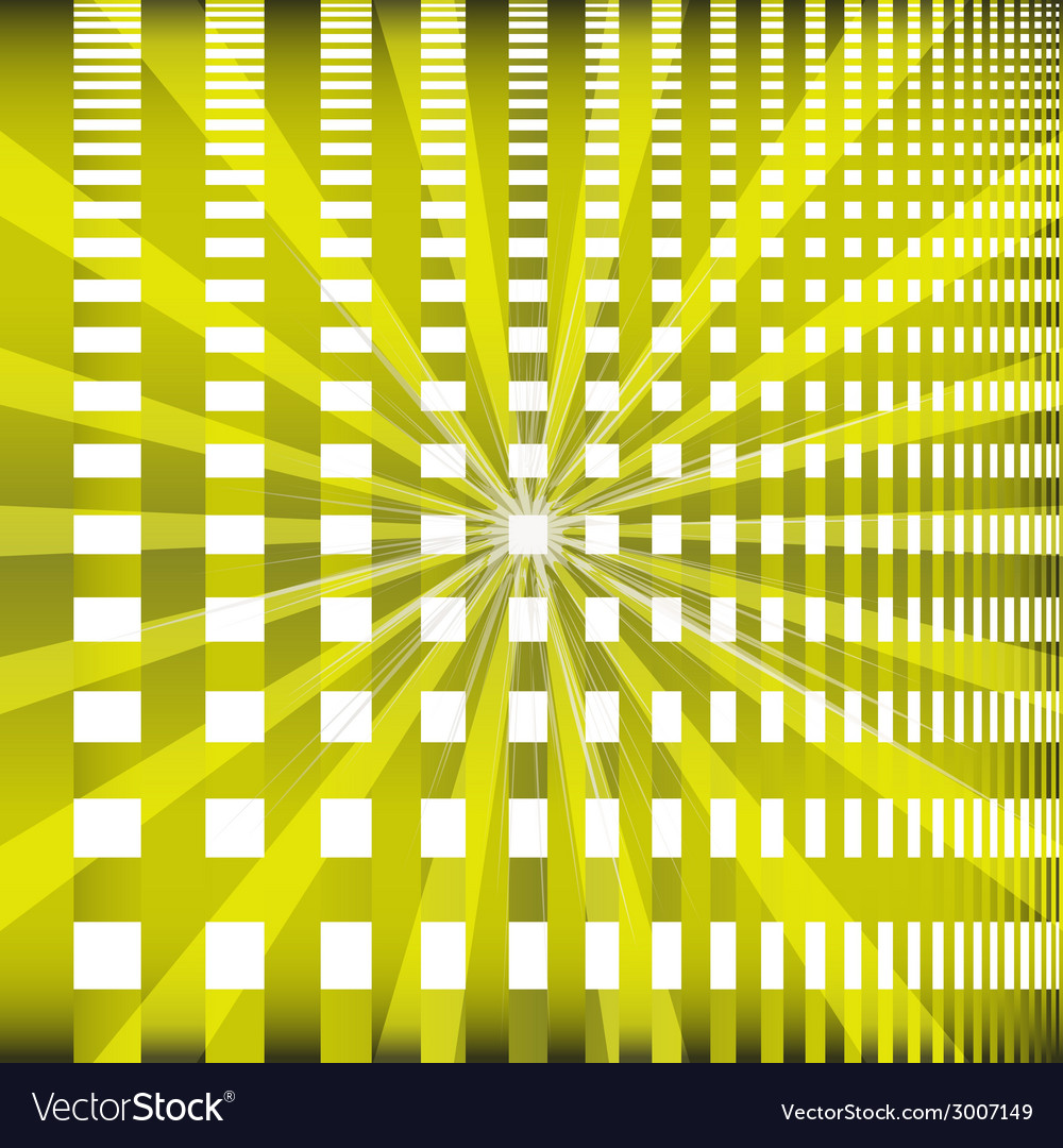 Ray checkerboard theme green background vector | Price: 1 Credit (USD $1)